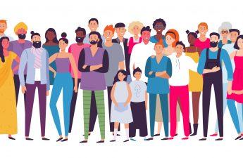 Gruppe von unterschiedlichen Menschen